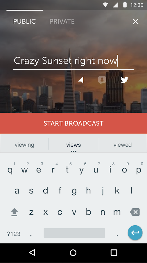 Screenshots of Periscope for Android