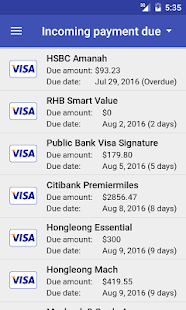 Credit Card Manager Pro Screenshot