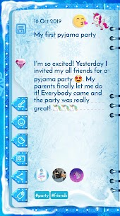 Winter Princess Diary (with lock or fingerprint) 4