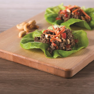 Asian Lettuce Wraps with Mushrooms.