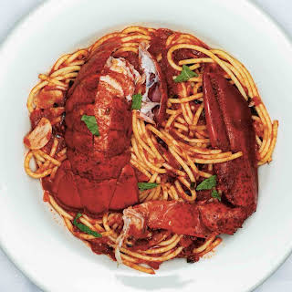 Spaghetti With Lobster, Chiles And Mint.