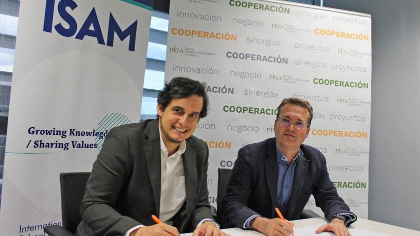 Diego Clemente, director General del PITA y Luis Flores, director de Operaciones de ISAM.