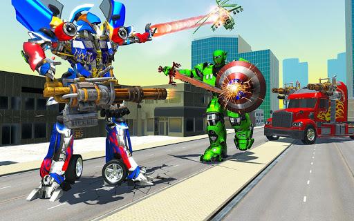 US Police Robot Transform Truck android2mod screenshots 3