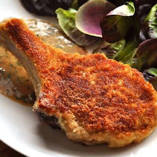 Fried Veal Chops Parmesan.