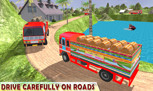 Indian Cargo Truck Driver Simulator apkpoly screenshots 9