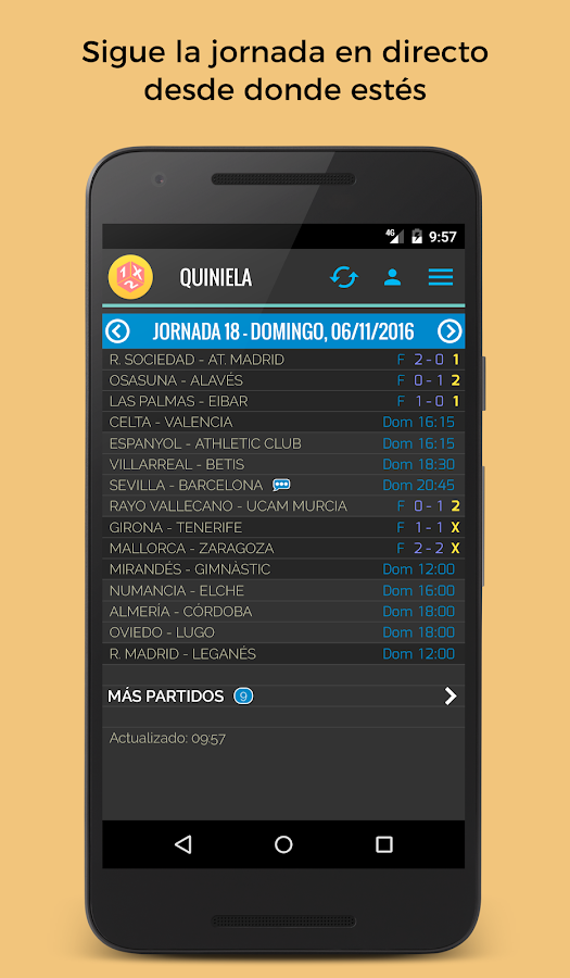 Quiniela- screenshot