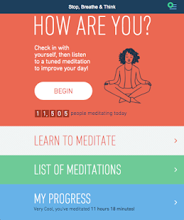 Stop Breathe & Think: Meditate- screenshot thumbnail