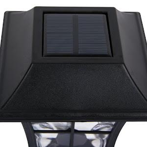 Set 3 felinare solare pentru gradina, Inaltime 32 cm