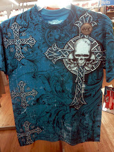 Photo: I love the color of this shirt, but I don't like that there is a skull with the cross. I still picked it up for my youngest son.