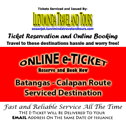 OceanJet Batangas-Calapan Route Ticket Reservation and Online Booking