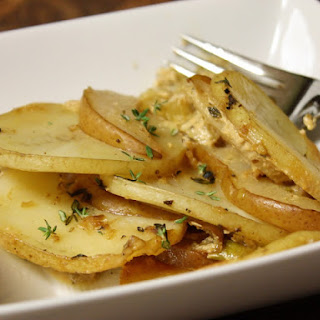 Potato, Leek, And Pear Gratin