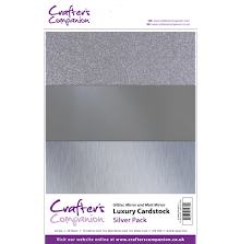 Crafters Companion Luxury Cardstock Pack A4 30Pkg 250gr - Silver