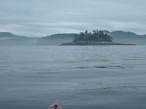 Photo: Almost across Queen Charlotte Strait with the BC mainland in the distance.