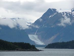 Photo: Davidson Glacier flows out of the Chilkat Mountains.
