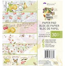 Prima Double-Sided Paper Pad 6X6 30/Pkg - Fruit Paradise UTGÅENDE