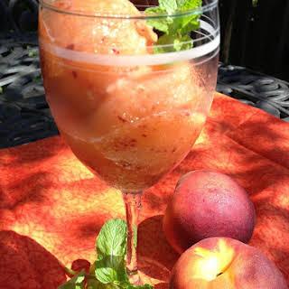 Spiced Rum Peach Lemonade Sorbet.