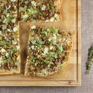 Roasted Eggplant, Feta, and Za'atar Pizza