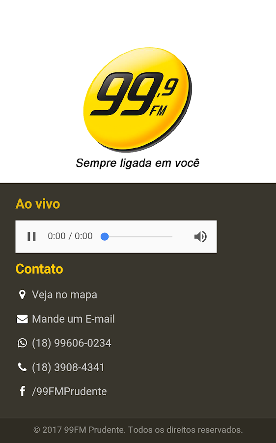 99 FM Prudente- screenshot