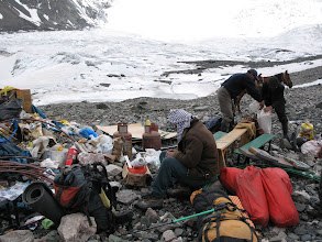 Photo: Lenin glacier, First camp, set up