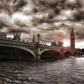 London by Roni Bit - Buildings & Architecture Statues & Monuments ( london, roni, big ben, bridge,  )