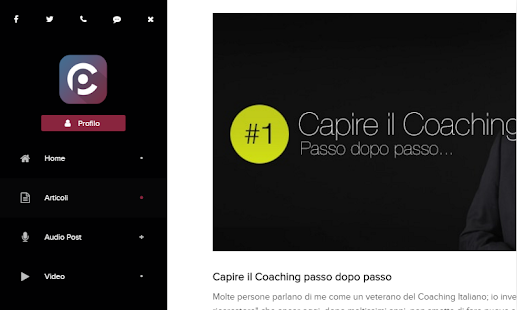 FreeCoach - L'App sul Coaching- miniatura screenshot
