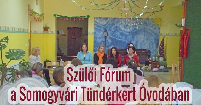 Szülői Fórum a Somogyvári Tündérkert Óvodában 2018