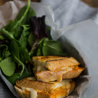 Romesco and Hummus Grilled Cheese