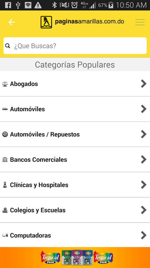 PaginasAmarillasRD Android- screenshot