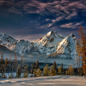 Mt Mcgown in the Idaho Sawtooth Mountains by Charles Knowles - Landscapes Mountains & Hills