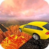 Wall Of Lava Volcano Cars 3D