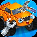 Repair machines - monster trucks icon