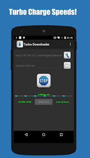 Turbo Downloader - náhled