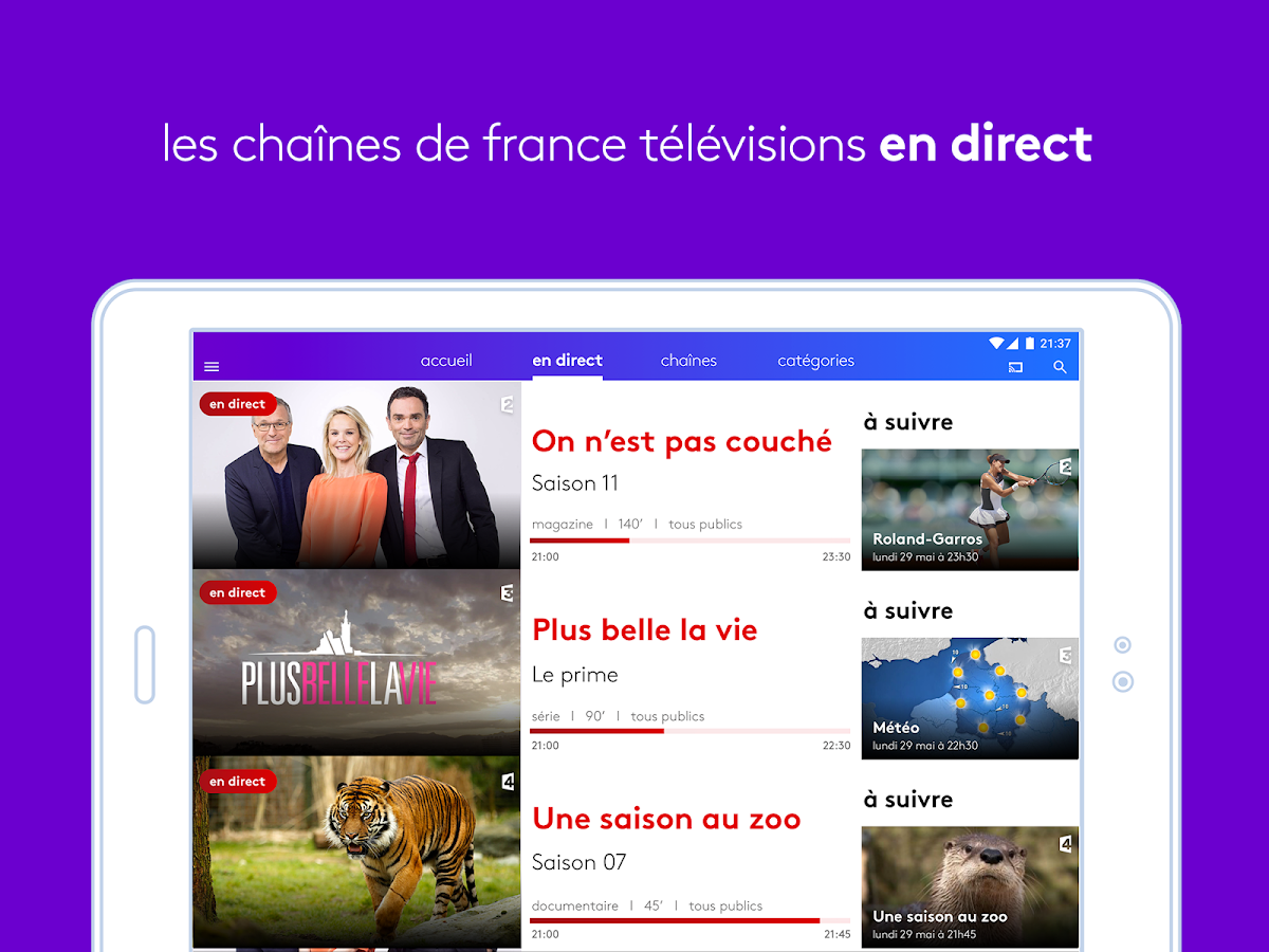 france tv direct et replay android apps on google play. Black Bedroom Furniture Sets. Home Design Ideas
