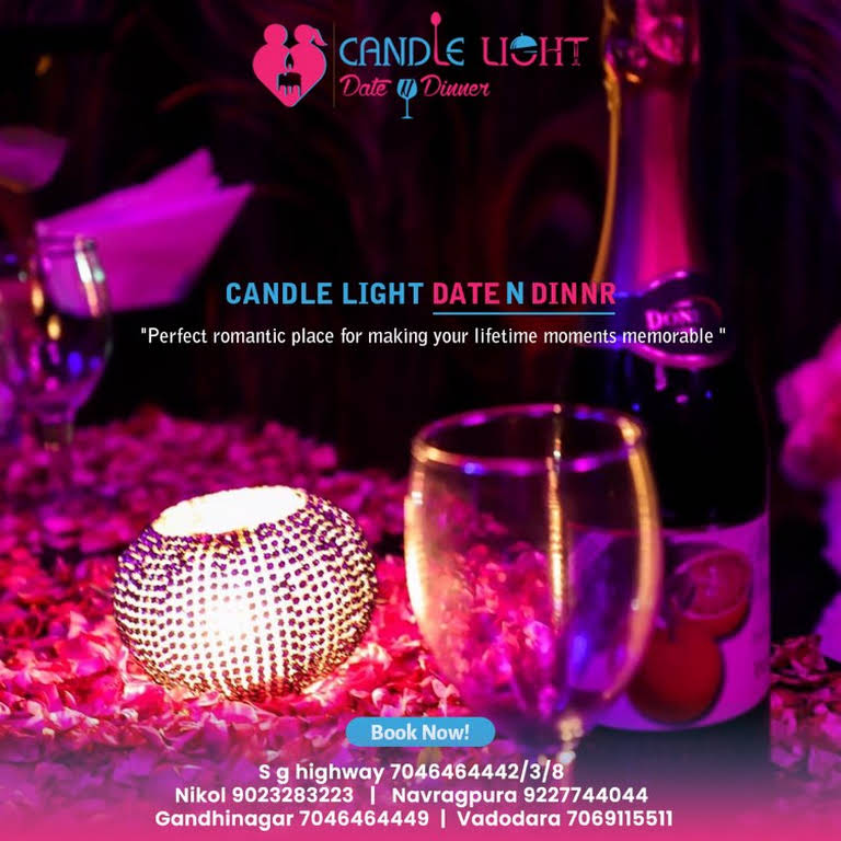 Dinner menu light candle ahmedabad Candle Light