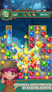 Jewels fantasy : match 3 puzzle 10