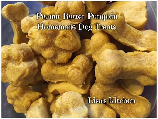Peanut Butter Pumpkin Homemade Dog Treats Recipe