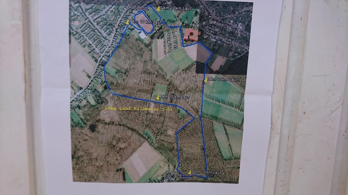 Korschenbroicher Waldlauf Strecke 5 10 Kilometer Lauf