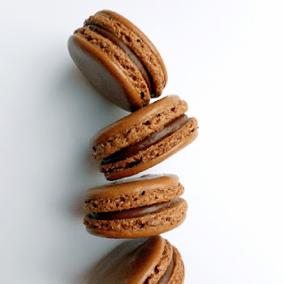 Chocolate Macarons with Nutella Ganache