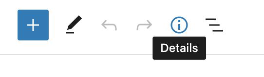 Capture d'écran de la barre d'outil supérieure de l'éditeur