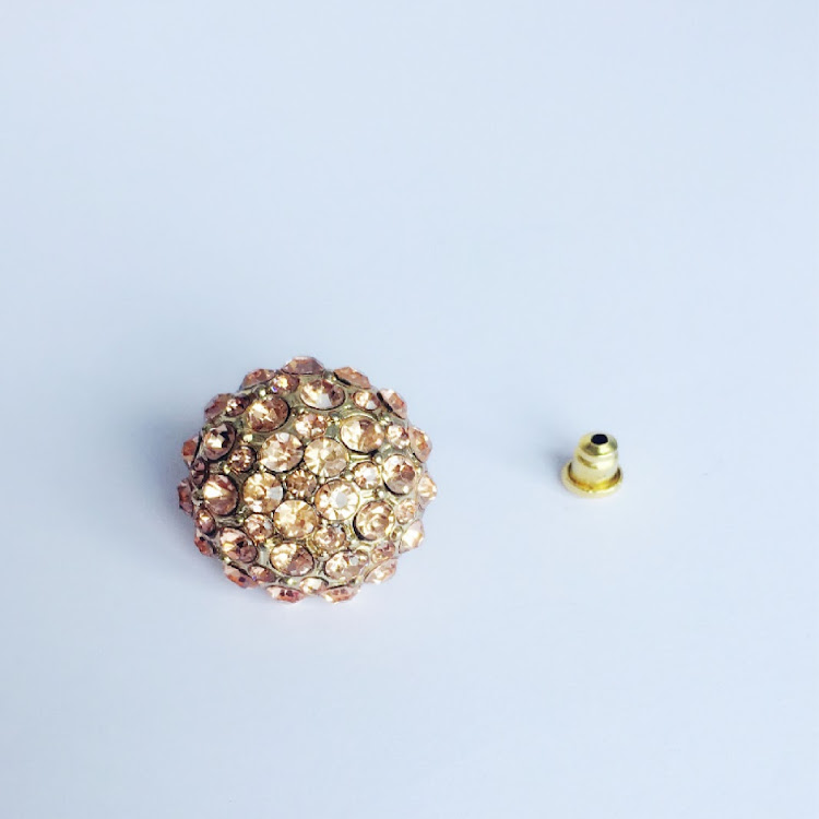 E002 - P. Jeweled Hydrangea Earrings