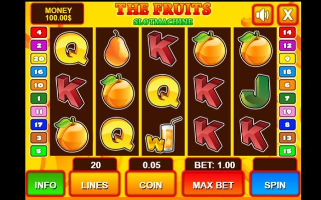 Casino Slot Machine - Fruits