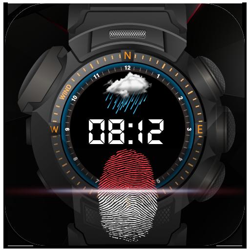 Wrist Watch Style Fingerprint Lock Screen(Prank)
