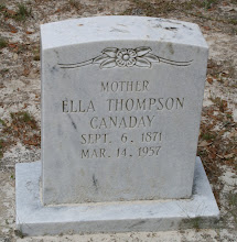 Photo: Ella Thompson Canaday daughter of James Calvin Benton Thompson and Keziah Christianity Green