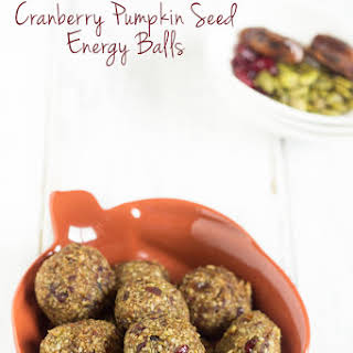 Nut Free Cranberry Pumpkin Seed Energy Balls.