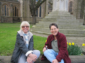 Photo: Judith and Helen: current and future program directors (in Worcester city center)