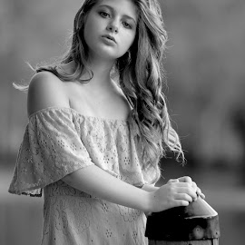 The river beauty by Sylvester Fourroux - Black & White Portraits & People