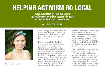 Photo: VStream (a Vegan Mainstream magazine) interview with Jessi Stafford  Spring/Summer (US) 2012  http://www.scribd.com/doc/89856702/Vstream-Spring-Summer-2012-Sneak-Peek
