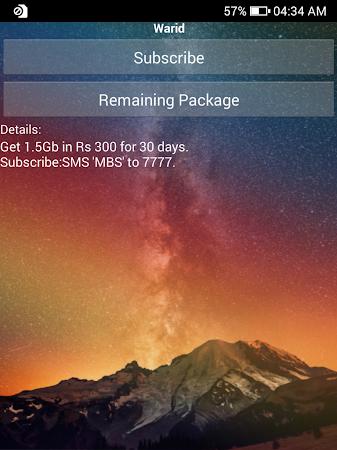 Warid Packages 1.8 screenshot 1095664