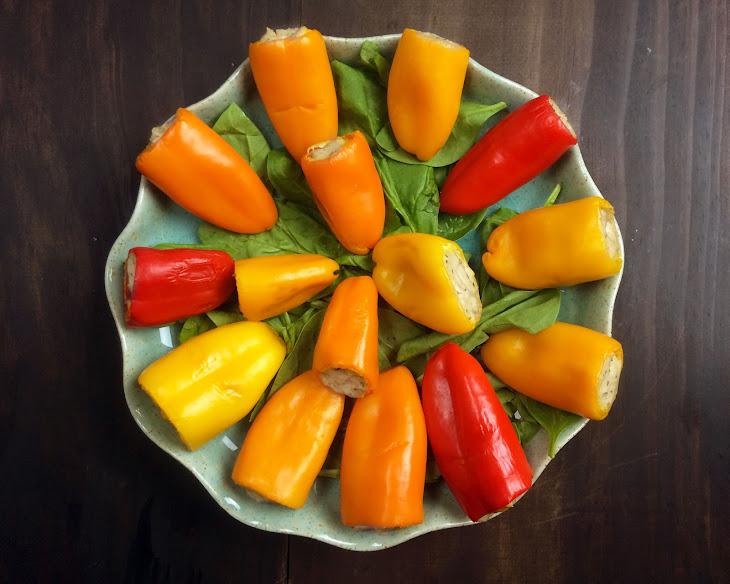 Mini Stuffed Peppers with Tofu Ricotta Filling Recipe