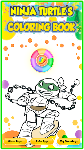 Ninja Hero Turtle Coloring Book apkmind screenshots 1